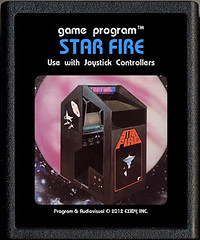 Star Fire (Paxton Holley) Tags: photoshop vintage fire star video arcade culture games pop atari retro nostalgia gaming madness midnight movies custom 2600 cartridge