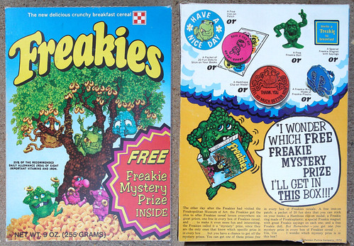 Old 1974 Ralston Freakies Cereal Box 1st Mystery Prize