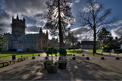 Buckfast Abbey (rosyrosie2009) Tags: uk england photography nikon scaffolding shadows photos devon benedictine hdr westcountry buckfastleigh buckfastabbey photomatix tonemapped buckfasttonicwine devonandcornwall d5000 rosiesphotos nikond5000 tamronspaf1024mmf3545diiildasphericalif rosiespooner rosyrosie2009 rosemaryspooner rosiespoonerphotography