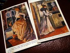 grce au gaz (overthemoon) Tags: old two vintage gaz gas postcards publicit tunisie adverts tunesien oldpostcards cartespostales