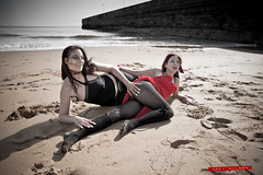 A little bit cheeky (AndyWilson) Tags: girls beach sony sandy models bum cheeky shore lindsey alpha a77 ramsgate tamron1750f28