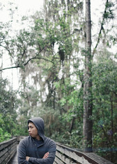 7.52 (N. Maung) Tags: park trees portrait lake selfportrait green rain forest 35mm project drops nikon state rainy walkway seven week f18 louisa 52 752 d7000 nmaung
