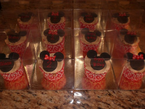 Mickey & Minnie Mouse Cupcake Favours