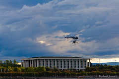 Navy helicopter display team near the National Library of Australia (Canon-Kid) Tags: