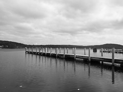 Pier (Littlerailroader) Tags: bw blackwhite unitedstates piers lakes newengland newhampshire whitemountains blackwhitephotography weirsbeach meredithnh lakesregion meredithnewhampshire