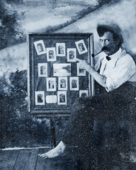 Barefoot Photographer, Tom Griffin, The Bronx, New York City, about 1898 (JFGryphon) Tags: photographer lancashire tintype westchestersquare clasonpoint unionport tomgriffin bartononirwell johnthomasgriffin