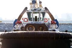 Smit Cheetah (MarkCantPark) Tags: sea holland water netherlands canon harbor boat rotterdam waves ship vessel maritime 7d l tug nautical hook swell 70200 smit