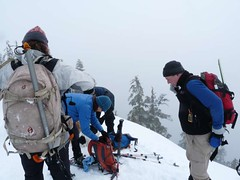 Packin' up and heading off the summit