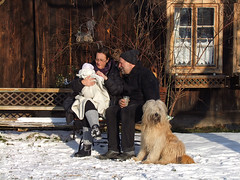 Let's enjoy the winter sun !!! (Lumatic) Tags: family schnee grandma winter portrait dog baby sun house cold nature germany bench real happy deutschland emotion grandmother outdoor air familie grandfather reserve haus content happiness bank grandpa kind hund grandparents newborn icicle editorial oma moment generations emotions holz kalt sonne opa feelings spreewald eiszapfen flickrvision lbbenau lehde grosmutter groseltern grosvater gettygermanyq4