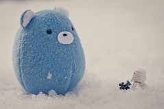 It's... some kind of rebel snow monster (MMortAH) Tags: winter snow toy toys starwars nikon lego designer 14 plush stormtrooper nikkor afs 50m d90 cavey alittlestranger