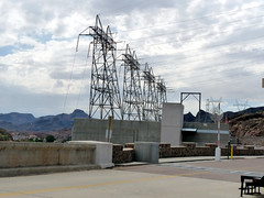 0516 California/Arizona, US95, Colorado River, Lake Havasu, Parker Dam, Electricity Generators Output Take-off (Aristotle13) Tags: vacation us tour coloradoriver lakehavasu caaz us95 2011 parkerdam arizonacalifornia generatorsoutputtakeoff