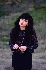 (claireanneg) Tags: portrait girl beauty face field fashion model nikon pretty hipster teen d90