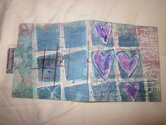 mixed media journal-thirst love (veronica phillips) Tags: favorite ink paper acrylic journal handboundbook gesso artjournal originalmixedmedia mixedmediajournal thirstlovefb modelingpastefavoritethirstlovefb