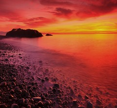 the sound (mogew) Tags: sunset sea beach water beautiful island evening washington colorful calm whidbeyisland pugetsound bestcapturesaoi