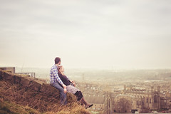 Anna & Iain (joannablu kitchener) Tags: city panorama scotland nikon couple edinburgh view relationship engaged caltonhill d700 kitchenerphotography