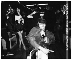 Daniel Chavis, Apollo Heights @ WIP (carly_sioux) Tags: bw film brooklyn streetphotography wip nightlife pointshoot picturesofyou paparazza apolloheights artparties carlysioux
