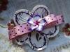 flor tictac, tecido fita e porcelana fria 0032 (tamyfor4) Tags: tiara broche flordetecido acessórioscabelo florparacabelo