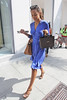 Rochelle Wiseman of The Saturdays shopping with bandmates in Beverly Hills Los Angeles, California