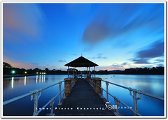 Singapore lower peirce reservoir (fiftymm99) Tags: bridge sunset lake reflection nature water lights evening nikon singapore wind drinking hut pavilion d300 lowerpiercereservoir fiftymm nikond300 singaporereservoir fiftymm99