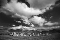Stone Circle (Bart Hoga) Tags: sunset bw lake mountains stone circle mono landscapes nikon rocks district cumbria castlerigg