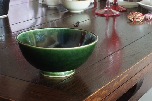 Found MUJI 日本の10窯 瀬戸焼(織部釉) 飯碗