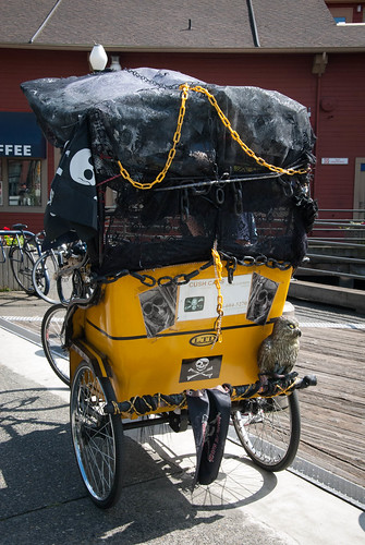 Skull rickshaw Seattle