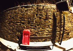 The Fun is over (C_MC_FL) Tags: street pink schnee winter light shadow snow ex wall canon bench photography eos austria mirror licht sterreich fotografie spiegel bob rosa sigma bank wideangle fisheye schatten mauer 10mm weitwinkel sitzbank fischauge strase 60d gettysalq4