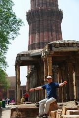 Me (Let Ideas Compete) Tags: world new india heritage me monument self myself delhi monuments qutub newdelhi qutab mehrauli indianculture