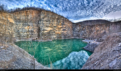 Aurora Quarry (Cash Valley Photography & Imaging) Tags: water clouds reflections mirror pit mining westvirginia limestone geology fairfax quarry hdr allegany mineralcounty aggregates canoneos7d
