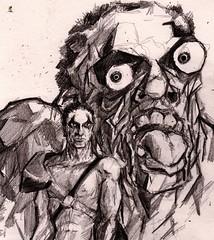 Spasm! (Jim_V) Tags: pencil comics sketch doodle 2000ad sláine warpspasm