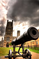 the cannon of the Cathedral (Shertila Tony) Tags: england sky europe cathedral britain cannon ely eels cambridgshire 100commentgroup flickraward mygearandme mygearandmepremium