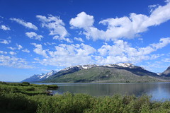 Sky, Lake, Snow (BlurredLiFe) Tags: blue sky lake snow mountains reflection landscape nationalpark wyoming capped grandteton