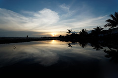 #850C9826- Reflections of sunset and clouds (Zoemies...) Tags: sunset beach clouds reflections balikpapan melawai zoemies