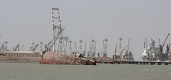 Shipwreck by Khor Al-Zubair Port and Khor Al-Zubair Free Trade Zone, Iraq