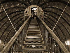 The Last Staircase (Sepia) (w4nd3rl0st (InspiredinDesMoines)) Tags: desktop old wallpaper house building green tower art architecture canon buildings computer tile landscape fun photography interesting midwest arch photographer tour state famous pillar indoor iowa symmetry historic hallway capitol dome 7d photowalk government marble gilded legislature senate statecapitol 2012 desmoines grandhall representative copula representing constituency cameraclub dmcc photostitching constituents 1585 dontmiss desmoinesisnotboring
