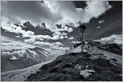 Mountain Wind (Patrick Giardina) Tags: trees winter wild sky blackandwhite bw italy panorama snow black mountains tree nature sign alberi clouds forest montagne canon march woods rocks italia nuvole wind stones natura crest cielo neve 5d belvedere viewpoint cartello sassi albero rocce inverno marzo vento 2012 bosco friuli markii newvision sauris selvaggio mygearandme mygearandmepremium mygearandmebronze peregrino27newvision