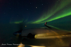 Flight Level 280 (Jason Pineau) Tags: sky night dark lights fly flying engine 350 aurora airways northern beechcraft beech borealis kingair cfykn