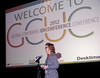 Liz Elam, GCUC Producer opens the day