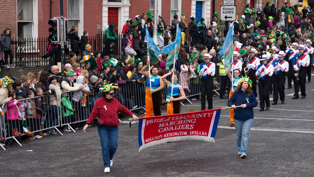 Tri-County Marching Cavaliers Band, Indiana (USA) - Patrick's Day Parade In Dublin