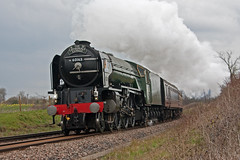 Tornado (Treflyn) Tags: train tour pacific cathedrals rail railway loco junction class steam salisbury locomotive express a1 railtour tornado peterborough flyover charter basingstoke peppercorn newbuild 462 60163 worting battledown