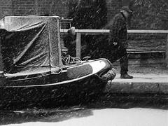 COLD COMFORT CANAL by Stephen Miller (SAM Images) Tags: snow canal miltonkeynes barge allrightsreserved greatlinford stephenmillerphotography forlicensingapplytostephenmiller737btinternetcom copyrightstephenmiller