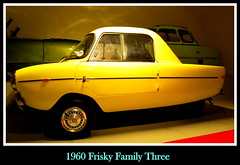 1960 Frisky Family Three (PictureJohn64) Tags: auto family heritage classic car museum three automobile driving traffic famous den transport hague collection commercial transportation historical haag frisky collectie fahrzeug 1960 oto historisch verkeer vervoer klassiek  samochd beroemd gravenhage otomobil louwman automobiel worldcars  automoviel klassiesch