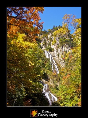 Hagoromo Waterfall in Autumn