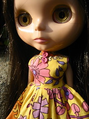 Psychedelic Garden Dress for Blythe