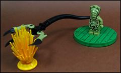 Blindly clutching at straws : D (Karf Oohlu) Tags: ego bush reaching alien minifig clutching moc cluthingforstraws