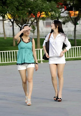white legs (8) (Steven pan 8) Tags: girls sexy girl beautiful beauty asian pretty legs skirt sultry oriental pantyhose chinesegirl asianbeauty