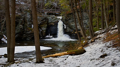 Spring Thaw (SunnyDazzled) Tags: winter snow ice pool forest landscape early waterfall spring scenery seasons pennsylvania falls pa changing late 16x9 childspark deerleap