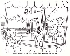 See The Monkey In The Tree? (Namey McNamerson) Tags: zoo book indianapolis coloring 1965