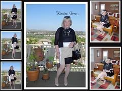 Kohl's Reed Color Block Dress (krislagreen) Tags: white black pumps dress feminine cd femme tan tgirl transgender blond transvestite crossdress tg cardi patent feminization colorblock feminized turbocollage