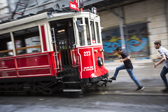 leap (eb78) Tags: turkey trolley middleeast streetphotography istanbul streetcar beyoglu istiklalavenue
